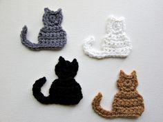 1pc Crochet CAT appliques