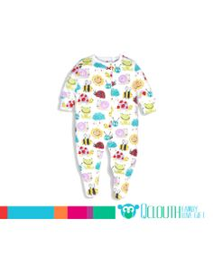 4a1727813a Cute Infant Baby Footed Animal Beatles Cotton Pajamas Long Sleeve Baby  Jumpsuit