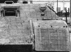 Close up photo of a Panther Ausf A zimmerit pattern