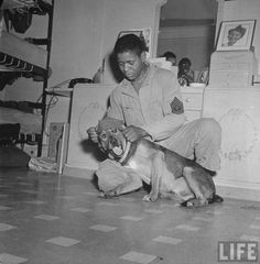 WWll Soldier and His Dog