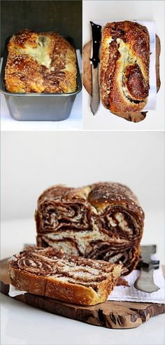 Croatian Sweet Walnut Chocolate Bread from Passionate About Baking. Bread Recipes, Whole Food Recipes, Healthy Recipes, Croissants, Sweet Dough, Cream Cheese Filling, Dessert Bread, How To Make Bread, Recipe Using