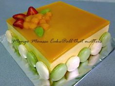 loooove mango mousse cake. i'm going to try this some day.