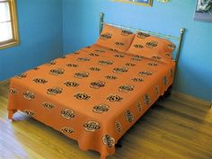 Oklahoma State Twin XL college dorm linens