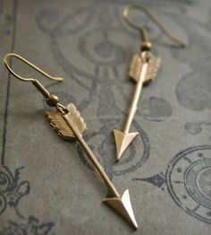 Feathered Arrow Drop Earrings   Jewelry Earrings   Chain Chain Chained   Scoutmob Shoppe   Product Detail