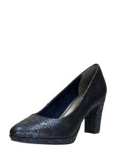 Tamaris dames pumps met glanslaag - blauw