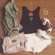 .@Christine Hsu | @missmagibaboutique jacket, @James Richter top, @brandymelvilleusa shorts. White shor...