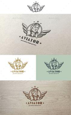 Aviator Logo — Photoshop PSD #aviation #brand • Available here → https://graphicriver.net/item/aviator-logo/10789028?ref=pxcr