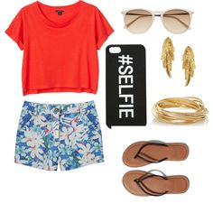 A fashion look from March 2015 featuring Monki t-shirts, Kerr® shorts and Abercrombie & Fitch flip flops. Browse and shop related looks.
