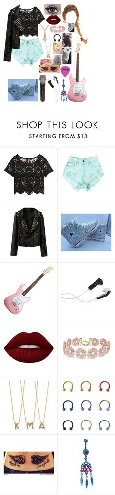 """""""Untitled #562"""" by skh-siera18 ❤ liked on Polyvore featuring H&M, Levi's, Converse, DEOS, Lime Crime, BaubleBar, Roberto Coin and Disney"""