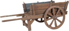 Build a wooden cart yourself.