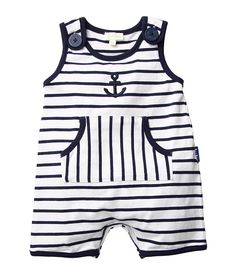le top Anchors Aweigh Nautical Stripe Sleeveless Romper w/ Pouch Pocket (Infant) - Zappos.com Free Shipping BOTH Ways
