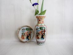 Beatiful Porcelain Old Vase and Ashtray by GuestFromThePast