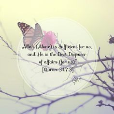 HasbunAllahu wa ni'mal wakeel - Allah is sufficient for us, and He is the best disposer of affairs. [Quran 3:173]