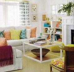 Salas - inspirações de decoração - Reciclar e Decorar