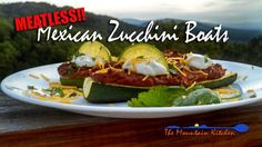 Mexican Zucchini Boats #MeatlessMonday