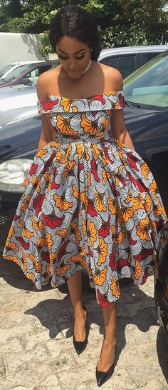 african print dresses African Print dress, Flower Ankara Dress, African Clothing, African Clothing for Women, African Dres African Fashion Ankara, Ghanaian Fashion, African Print Fashion, Africa Fashion, African Prints, Men's Fashion, Fashion 2018, Dress Fashion, African Style