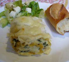 creamy spinach lasagne rolls