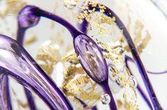 Flacon cristal et or pour la fragrance Aeria Amethystus