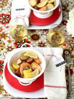 summer entertaining_shrimp boil #red #vermilion  #cwcolor #sponsored