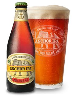 Anchor IPA (IPA) Dark amber looks with a mid range off white head. Some fragrant hop in the nose in tandem with notes of grass and caramel. Sweetish flavour with some bready notes alongside some piney hop, fruits and caramel. Rather earthy bitterness.