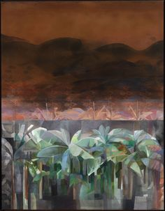 Myrna Báez (b. Aug. 18, 1931): Platanal, 1974 - acrylic on canvas (Smithsonian)