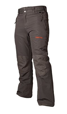 Arctix Youth Snow Pants with Reinforced Knees and Seat Charcoal Medium  The reinforced version of our classic pant is designed for the kid who punishes their gear. Whether on the slopes of in the backyard, the reinforced knees and seat are ready to withstand high demand. The water and wind resistant product will keep the kids warm and dry, DWR finish (Durable Water Repellent) helps repel water from fabric surface. The Arctix youth reinforced snow pants are made with dobby w/R + w/P 3..