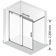 Duschprofi Walk-in K2 Inloopdouche Schuifdeur op maat Chroom / Helder Glas
