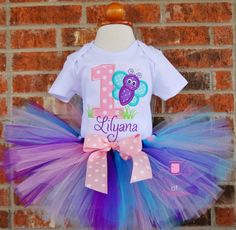 Hey, I found this really awesome Etsy listing at https://www.etsy.com/listing/223383115/first-birthday-outfit-butterfly-tutu-set