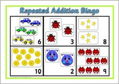 FREE addition, subtration, multiplication and division teaching resources for Primary School teachers. Free Printable Numbers, Repeated Addition, Bingo Board, Primary School Teacher, Multiplication And Division, Numeracy, Teaching Resources, Kids Rugs, Math