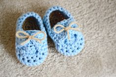 Peter Rabbit Crochet Baby Loafer Shoes- Size 3-6 Months - Crochet Baby Boy Shoes - Infant Booties