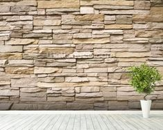 Adorn your wall with this custom-made Stacked Stone Wall wall mural. FREE UK delivery within 2 to 4 working days. Stacked Stone Walls, Wall Wallpaper, Room Set, Wall Murals, Stairs, Image, Airstone, Wall, Wallpaper