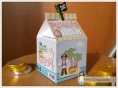 PRINTABLE MILK Carton Pirate Milk DIY digital di PetitCreaciones
