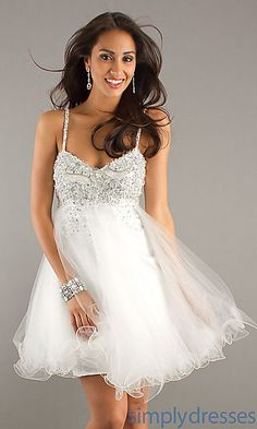 Short White Prom Dress by Dave and Johnny http://www.simplydresses.com/shop/viewitem-PD768083 $190.00