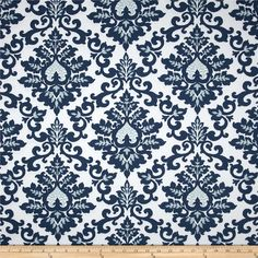 Master bedroom curtains.  Figures it's not available, it's so pretty!  Premier Prints Cecilia Premier Navy