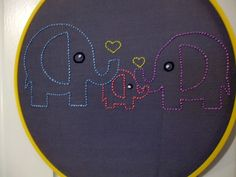 I need to re-learn embroidery so I can make this for baby number 2's room!