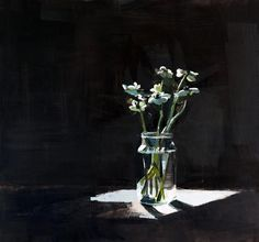 Susan Ashworth turns photos into dark, shadowy brushstrokes.