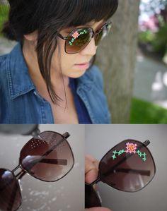 DIY Embroidered Sunglasses Tutorial