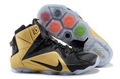 "quality design c3857 af599 Cheap Nike LeBron 12 ""Akron"" PE Black Metallic Gold For Sale, Price   95.00  - Air Jordan Shoes, Michael Jordan Shoes"