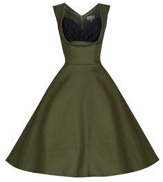 Lindy Bop 'Ophelia' Vintage 1950's Prom Swing Dress (4XL, Cypress Green)