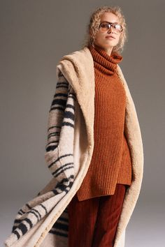 Sweetest Thing Sweater Coat - Off White and Black Striped Long Line Sweater Coat with Soft Furry Lining Long Sweater Coat, Long Sweaters, Sweater Jacket, Types Of Jackets, Fall Jackets, Sweater Weather, Autumn Winter Fashion, Winter Style, Sweetest Thing