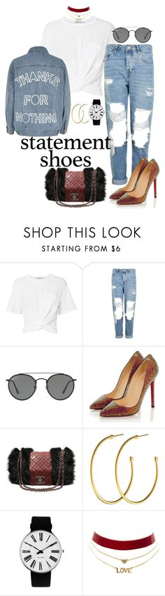 """""""Lazy GLAM"""" by moonlightprinces on Polyvore featuring T By Alexander Wang, Topshop, Ray-Ban, Christian Louboutin, Chanel, Dyrberg/Kern, Rosendahl, Charlotte Russe and River Island"""