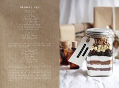 Call me cupcake: Edible gift idea: Brownie mix