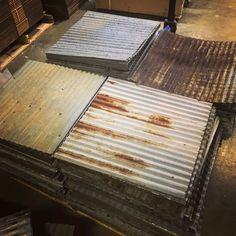 Dakota Tin Real Barn Tin Ceiling Tiles Ready to Ship! Tin Tiles, Tin Ceiling Tiles, Metal Ceiling, Corrugated Tin Ceiling, Corrugated Metal, Attic House, Attic Rooms, Attic Floor, Attic Bathroom