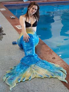Swimable full silicone mermaid tail by TFArtistry on Etsy