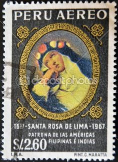 Peru Stamp 1967 - Santa Rosa de Lima