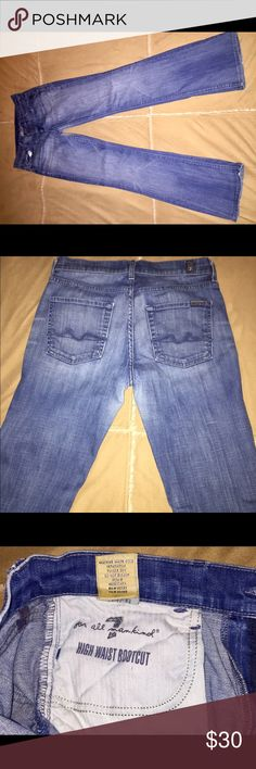 7 for all man kind jeans 7 for all man kind jeans. Very soft denim. 7 For All Mankind Jeans Boot Cut
