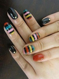 multi color nail art | Multi Color Nail Art Ideas For Summer Polyvore