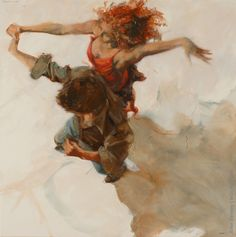I've always been a figurative painter. I use bodies in motion to tell my stories, exploring the relationship of a couple Tango Dancers, Dance Paintings, Fabian Perez, Salsa Dancing, Mystique, Dance Pictures, Dance Art, Sports Art, Henri Rousseau