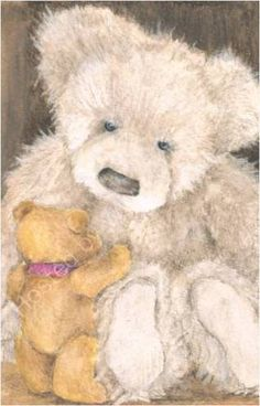 Image result for beautiful paintings of teddybears