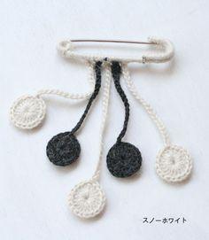crochet pin brooch